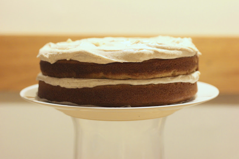 Pumpkin Spice Layer Cake with Cinnamon Cream Cheese ...