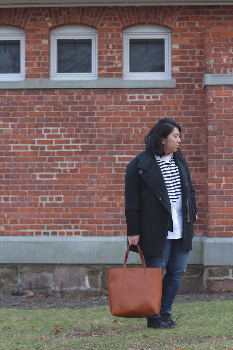 madewell-city-grid-coat-madewell-heartbeat-oversized-button-down-shirt-old-navy-boyfriend-jeans-madewell-transport-tote