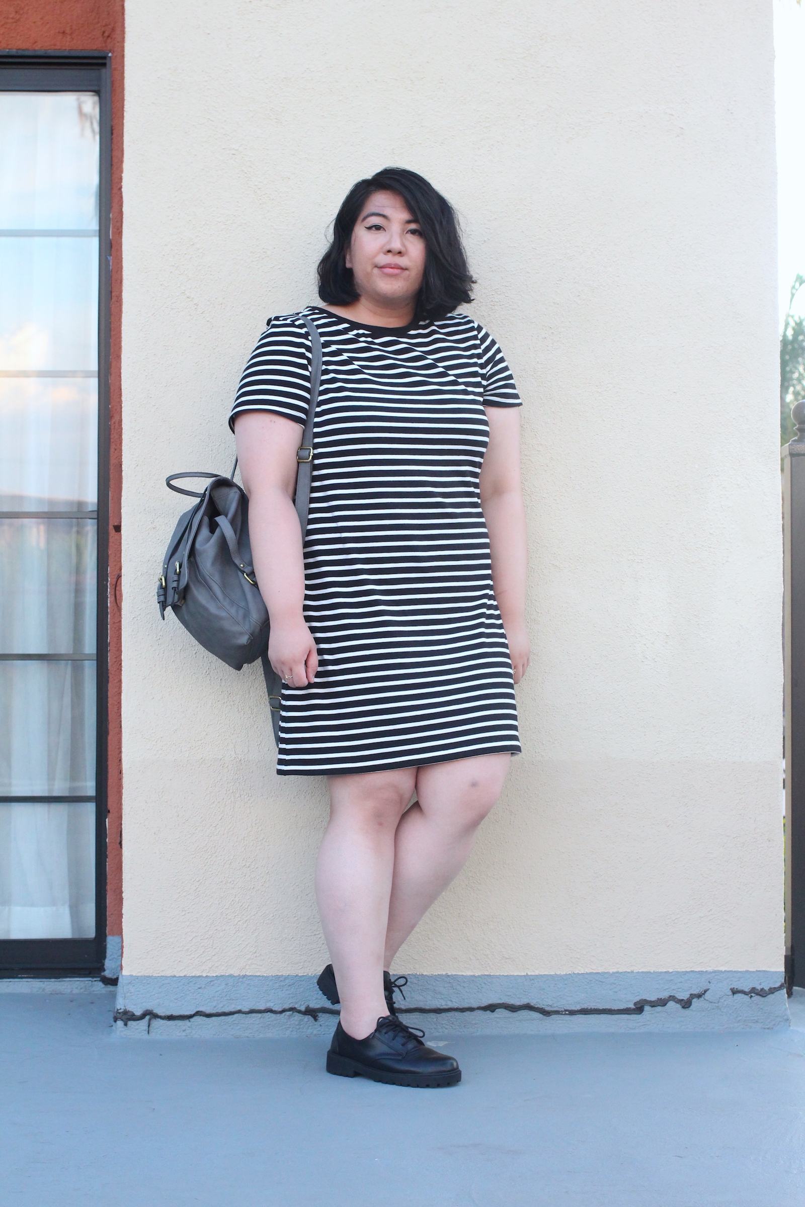 striped-dress-style-mini-backpack-lace-up-loafers