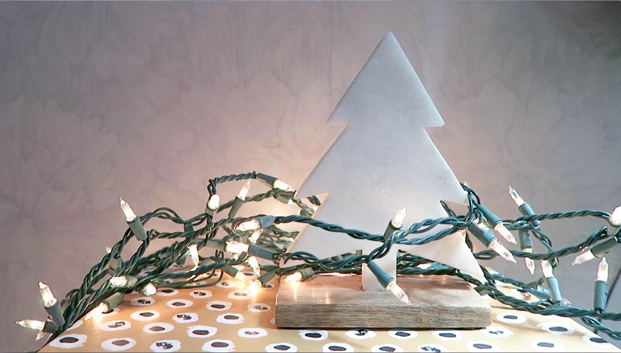 minimal marble christmas tree
